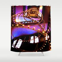 the lights Shower Curtains featuring Lights. by ellenhamilton
