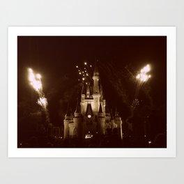 Magic Kingdom Fireworks Art Print