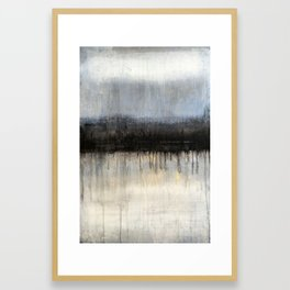 """1075 abstract antique black/white blue"" Framed Art Print"