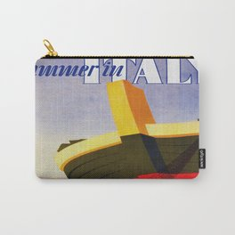 Summer in Italy - Vintage Travel Carry-All Pouch