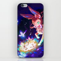 sylveon iPhone & iPod Skins featuring Sylveon by Katie O'Meara