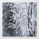 Snowy Tree Branches Winter Scene #decor #society6 #buyart by pivivikstrm