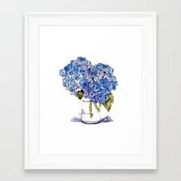 Hydrangea painting Framed Art Print