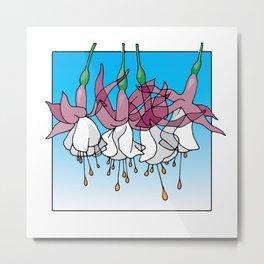 Pink & White Fuchsias Metal Print