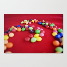 Skittles Swirls Canvas Print