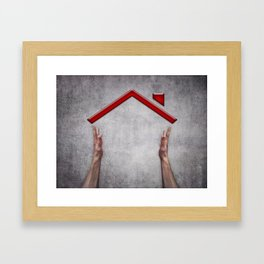 house holding Framed Art Print