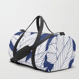 SUMMERTIME (Leaves on blue) Duffle Bag