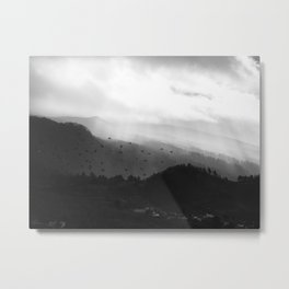 A foggy day in the hills Metal Print