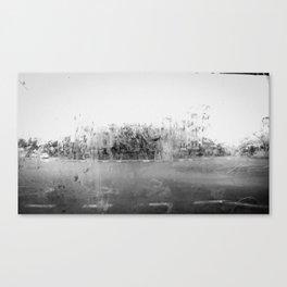 A través del cristal (black and white version) Canvas Print