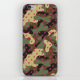 CAMO & HOT PINK BOMB DIGGITYS ALL OVER LARGE iPhone Skin