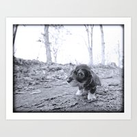 DACKEL DOG PUPPY #6 Art Print