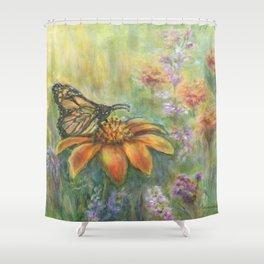 Butterfly Landing by Marianne Fadden Shower Curtain