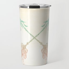 Tribal Arrows Turquoise Coral Gradient Travel Mug