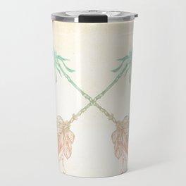 Tribal Arrows Turquoise Coral Gradient Travel Mug