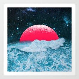 008 - Where the ocean meets the sky Art Print