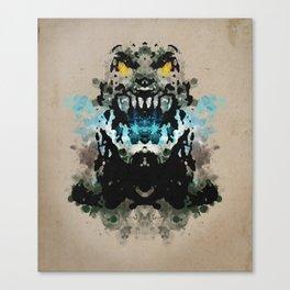 Rorschach Godzilla | Textured Canvas Print