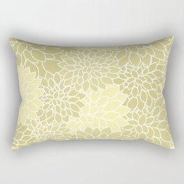 Beige Yellow Dahlias Rectangular Pillow