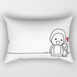 Penguin Sweetness Rectangular Pillow