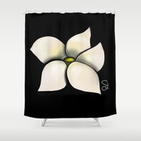 transformer Shower Curtains featuring Fragrant by ShaylahLeigh