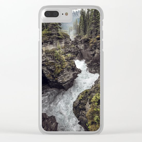 Athabasca Falls Turbulent River Clear iPhone Case