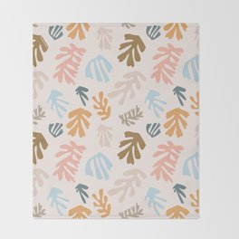 Seaweeds and sand Throw Blanket