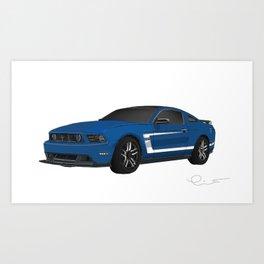 Mustang Boss drawing Art Print