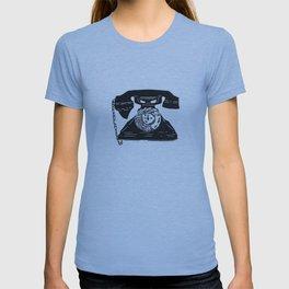 Vintage Telephone linocut T-shirt