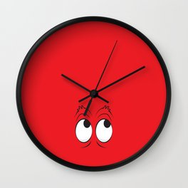 Monster Eyes Red Wall Clock