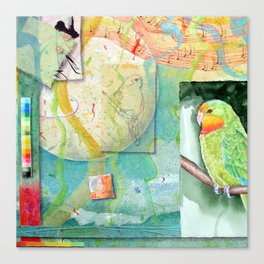 Song for Superb Parrot Canvas Print