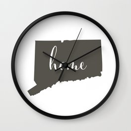 Connecticut is Home Wall Clock