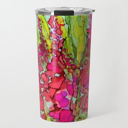 Pink Bouquet By Pam Hayes- Travel Mug