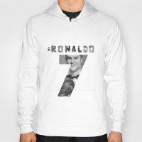 ronaldo Hoodies featuring Cristiano Ronaldo by Aeriz85
