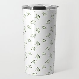 Olive Green Queen Anne's Lace pattern Travel Mug