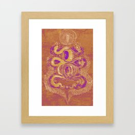 Snake Destiny (Golden Colors) Framed Art Print