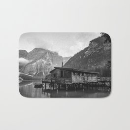House on Water (Black and White) Bath Mat