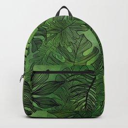 Jungle Leaves Green Backpack