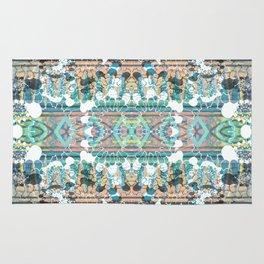 Decorative ethnic stripes and petals Rug
