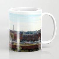 washington dc Mugs featuring Washington DC Rooftops by Robert McHugh
