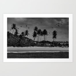 Black and white photo of a Brazilian northeast beach Art Print
