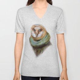 Animals - Funny Owl Painting Unisex V-Neck