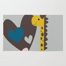 Giraffe in love Rug