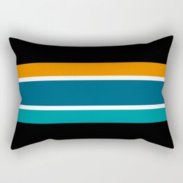 TEAM COLORS 2.....,orange,dk teal,black,lght teal Rectangular Pillow