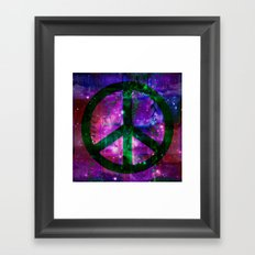 Peace symbol and infused colors Framed Art Print