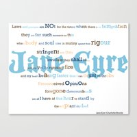 jane eyre Canvas Prints featuring Jane Eyre Quote by Lisa Naselli