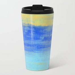 Relaxing Beach Aqua Turquiose Nautical Abstract Art Travel Mug