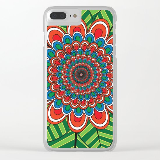 Pattern J Clear iPhone Case