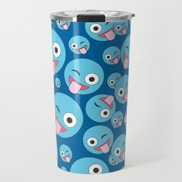 Crazy Wink and Sticking Tongue Out Travel Mug