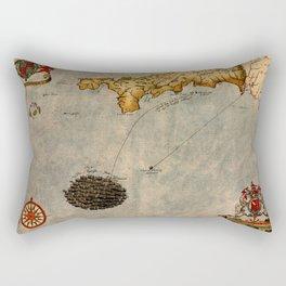 Map Of Cornwall 1588 Rectangular Pillow