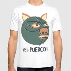 ¡El Puerco! MEDIUM Mens Fitted Tee White