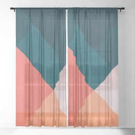 Geometric 1708 Sheer Curtain